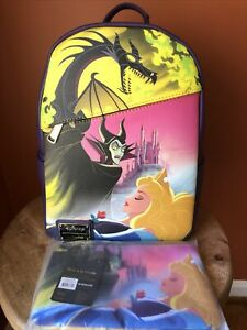 Pink A La Mode DEC Loungefly Sleeping Beauty Maleficent Backpack And Coin Pouch✅