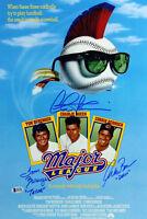 Major League (3) Sheen, Berenger & Bernsen  Signed 12x18 Mini Movie Poster BAS 1