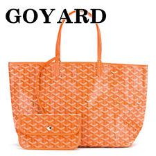 GOYARD Saint Louis PM Tote Shoulder Bag & Pouch Orange 2018 Unisex Purse New
