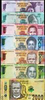 Malawi 7 Pcs SET, UNC, 20 50 100 200 500 1000 2000 Kwacha, 2014 to 2016