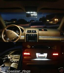 25pc LED Interiot Kit For Porsche Cayenne  Incl. License Plate & Side Mirror