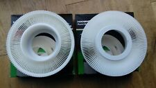 TWO HANIMEX SLIDE CAROUSELS, EACH WILL HOLD 120 SLIDES, WITH BOXES