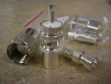 100 Silver PL-259  Plugs W/ Silver RG-8X  Reducers