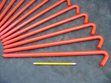 "24 pack of 18"" long Orange metal Hook Stakes for bouncers. Usa! 62518Bor24"