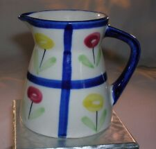 Creamer, Provincial by Royal Sealy,Made in Japan,White with Red & Yellow Flowers