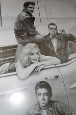FREE SHIPPING SALE!   Marilyn Monroe 22x28 JAMES DEAN, ELVIS PRESLEY, BOGART