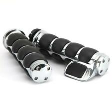 Chrome Hand Grips+Throttle Boss For Harley Softail Dyna Sportster Electra Glide