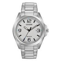 Citizen Eco-Drive Men's Chandler Silver-Tone Dial Bracelet 43mm Watch AW1430-86A