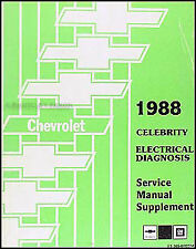 1988 Chevy Celebrity Electrical Diagnosis Service Manual Wiring Diagrams OEM 88
