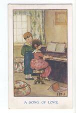 ch0096 - Children - A Song of Love - artist IMJ - postcard
