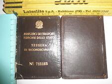 Tessera di riconoscimento Ministero Trasporti Ferrovie dello Stato n 715165 - 15