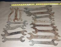 Lot Of 15) Vintage Hand Wrenches Tractor Farm Tools Champion Craftsman