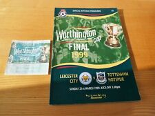 More details for 1999 worthington cup final programme + ticket leicester city v tottenham hotspur