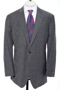 46R Brooks Brothers 346 Slim Fitzgerald Fit Gray Glen Plaid Blazer Sport Coat