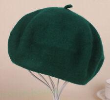 Womens Sweet Solid Warm Wool Winter Beret French Artist Beanie Hat Ski Cap Hats