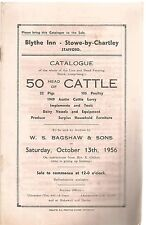 Blythe Inn , Stowe By Chartley , Stafford : Sale Catalogue Of 50 Head Of Cattle