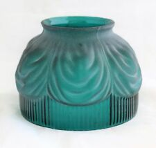 Antique emerald frosted glass lace Lamp part Shade