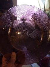 Lot of 4 ForteCrisa Mexico Amethyst Sunflower Purple 9 3/4 Inch dinner plates