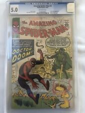Amazing Spiderman No.5 1963 VG 5.0 CGC 1st App Dr Doom