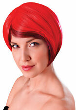 Ladies Red Blended Bob Wig Accessory 20S Flapper Charleston Fancy Dress