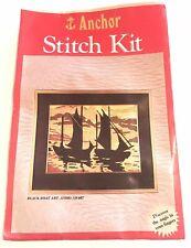Anchor Stitch Kit Black Boat Art