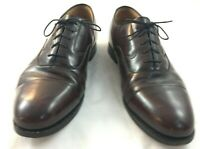 Johnston & Murphy Mens 8.5 D B Brown Leather Cap Toe Lace Up Oxford Dress Shoes