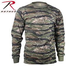 d0e314eb Long Sleeve T-Shirt Camo Tactical Military Crew Tee Undershirt Rothco