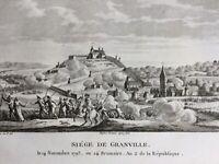 Siège de Granville 1793 Guerre de Vendée Manche Chouans Stofflet Charette Tunk