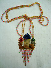 N2 MULTICOLOUR NECKLACE with beads and enamel charms