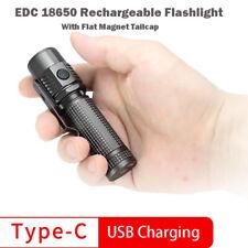 EDC 18650  Rechargeable Flashlight 1090 Lumen | Pocket Clip | Magnet tailcap