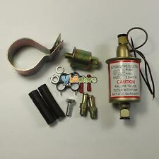 New Universal 2.5-4.5 PSI In Line External Electric Fuel Pump w/Installation Kit