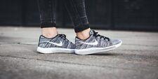 Nike Women Lunarepic Low Flyknit White/Black/ Running Shoes 843765 001 Size 9