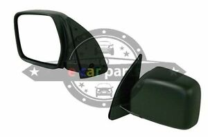 SUITS TOYOTA HIACE SBV 10/1995-1/2003 LEFT SIDE BLACK DOOR MIRROR MANUAL