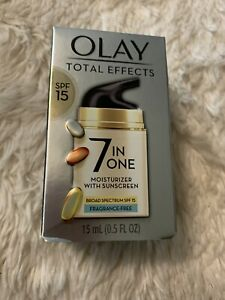 olay total effects 7 in 1 fragrance free Moisturizer .5 Oz