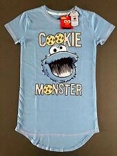 Krümelmonster Damen Pyjama Nachthemd Schlaf-Shirt Cookie Monster XS-S-M-L-XL