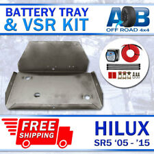 Battery Tray & VSR Kit for Toyota Hilux PETROL SR SR5 2005-2015 4L V6 Stainless