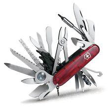 Victorinox SwissChamp XLT Ruby Swiss Army Knife W/ Leather Pouch SWITZERLAND