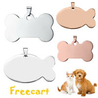 PET ID TAG CUSTOM ENGRAVED PERSONALIZED DOG CAT NAME TAGS DOUBLE SIDE