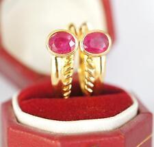 Wunderschöne elegante Rubin Ohrringe aus 585/000 Gelbgold A2593