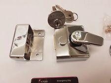 Eclipse Narrow Style Night latch c/w 3 keys- Polished chrome 70095C/C