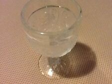 Vintage Tiara Sandwich Indiana Glass Crystal Clear  Wine Cordial Goblet