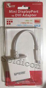 NEW Encore Mini DisplayPort to DVI Adapter for Mac / PC ENCA-MDD Sealed package