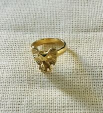 7~Trunk Up For Good Luck Anthropologie Gold Metal Elephant Head Ring~Size