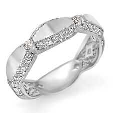 1.10 Ct Round Diamond F VS1 Eternity Wedding Women's Band Ring 18k White Gold
