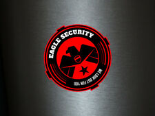 1 x Aufkleber Eagle Security We Look Out For You Sicherheit Sticker Fun Decal