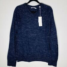 VINCE**Men's Wool V-Neck Navy Sweater**Small $245