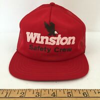 Vintage Trucker Hat -  NASCAR -  Winston Cup Safety Crew 1980s 1990s pit crew