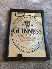 Vintage Guiness Advertising Mirror