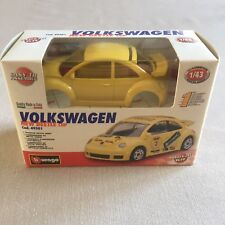 BURAGO 1/43 MODEL KIT VOLKSWAGEN NEW BEETLE CUP ITALY PAINTED METAL YELLOW NIB