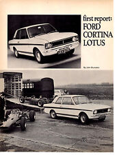 1967 CORTINA-LOTUS  ~  NICE ORIGINAL 2-PAGE ARTICLE / AD